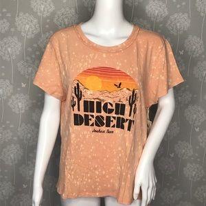 Lucky Brand Tee XL High Desert Raglan Joshua Tree*